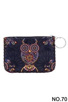 Owl Pattern Printed Wallet HB0665 - NO.70