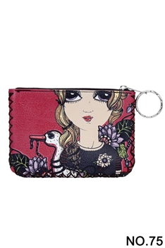 Women Ethnic Pattern Printed Wallet HB0665 - NO.75