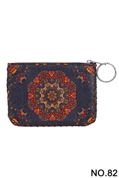 Women Ethnic Pattern Printed Wallet HB0665 - NO.82BK