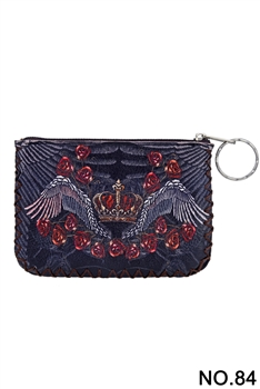 Wings Printed Coin Purse HB0665 - NO.84