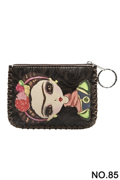 Women Ethnic Pattern Printed Wallet HB0665 - NO.85BK