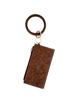 Leatherette Bracelets Wallets Handbags HB0703 - Brown