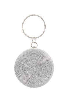 Round Evening Bag HB0706 - Silver