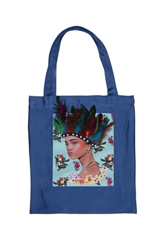 Printed Patch Tote Bags HB0710-NO.1 - Blue