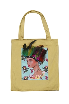 Printed Patch Tote Bags HB0710-NO.1 - Gold