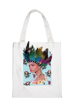 Printed Patch Tote Bags HB0710-NO.1 - White
