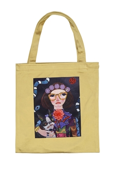 Printed Patch Tote Bags HB0710-NO.2 - Gold