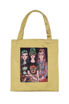 Printed Patch Tote Bags HB0710-NO.3 - Gold