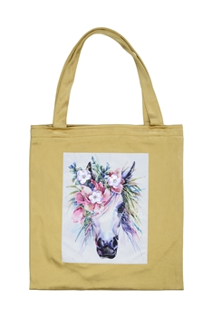 Printed Patch Tote Bags HB0710-NO.49 - Gold