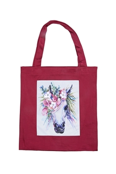 Printed Patch Tote Bags HB0710-NO.49 - Red