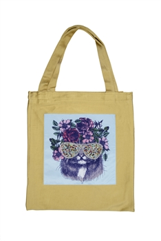 Printed Patch Tote Bags HB0710-NO.50 - Gold
