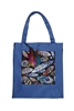 Printed Patch Tote Bags HB0710-NO.71 - Blue