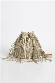 Shell Woven Bucket Bag HB0720