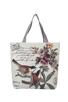 Butterfly & Birds Canvas Tote Bags HB0752