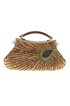Sequin Peacock Crossbody Bag HB0759 - Gold
