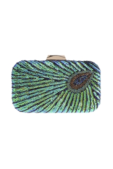 Sequin Peacock Evening Bag HB0761