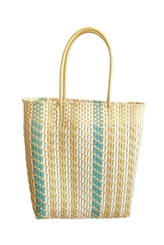 Candy Color Plastic Woven Tote Bag HB0769 - Yellow
