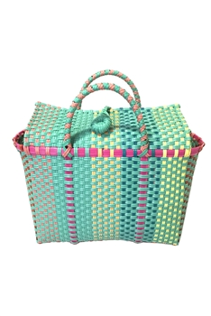 Candy Color Plastic Woven Tote Bag HB0771