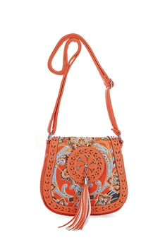 Tassel Saddle Crossbody Bag HB0784 - Orange
