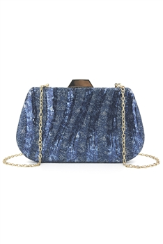 Shell Sequins Evening Bags HB0840 - Blue