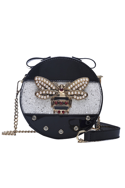Bee Circle Pu Leather Crossbody HB0856