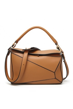 Geometry Pu Leather Crossbody HB0857 - Brown