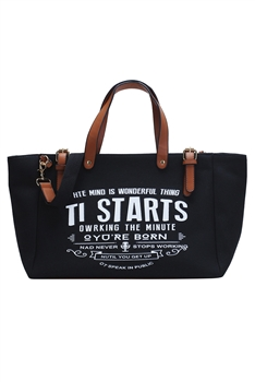 Canvas Tote Bags HB0870 - Black