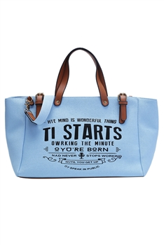 Canvas Tote Bags HB0870 - Blue