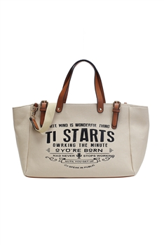 Canvas Tote Bags HB0870 - Brown