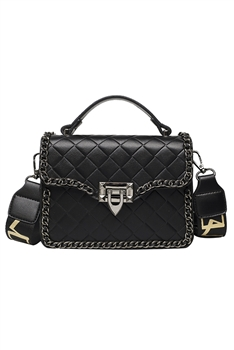 Diamond Lattice Crossbody Bags HB0872 - Black