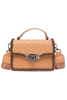 Diamond Lattice Crossbody Bags HB0872 - Orange