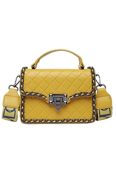 Diamond Lattice Crossbody Bags HB0872 - Yellow