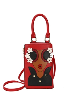 Lady Pattern Crossbody Handbags HB0882 - Red