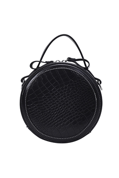 Crocodile Pattern Round Bags HB0885 - Black