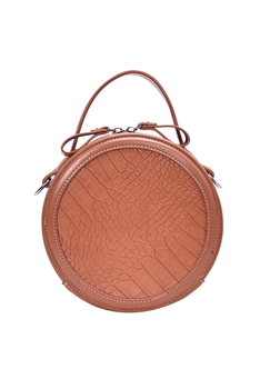 Crocodile Pattern Round Bags HB0885 - Orange