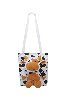 Stuffed Cow Tote Bags HB0891