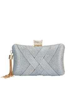 Silk Tassel Evening Bag HB0921 - Blue