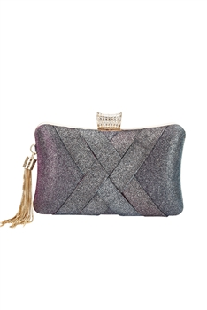 Silk Tassel Evening Bag HB0921 - Purple