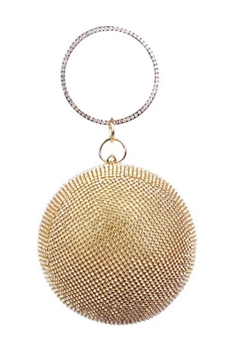 Spherical Rhinestone Evening Bags HB0979 - Gold