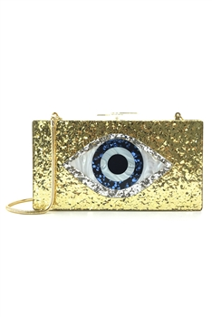 Against Evil Eye Acrylic Evening Bags HB1007 - Gold