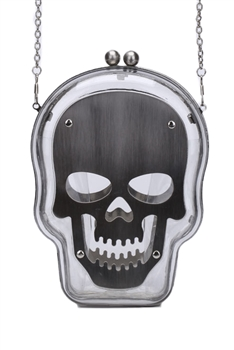 Skull Acrylic Evening Bags HB1053 - Clear