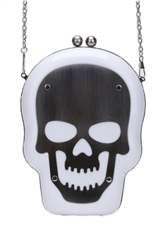 Skull Acrylic Evening Bags HB1053 - White