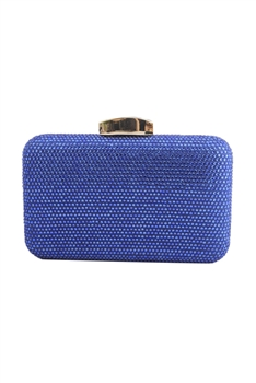 Rhinestone Rectangle Evening Bags HB1065 - Blue
