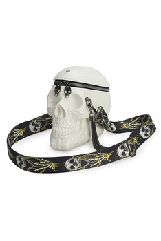 Skull Head Pu Leather Crossbody Bags HB1101 - White