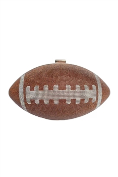 Football Rhinestone Evening Bags HB1115 - Brown