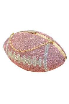 Football Rhinestone Evening Bags HB1115 - Pink