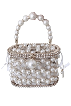 Hollow Basket Pearl Evenning Bag HB1129