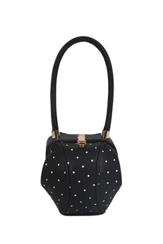 Points Bucket Pu Leather Bag HB1188 - Black
