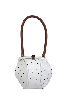 Points Bucket Pu Leather Bag HB1188 - White