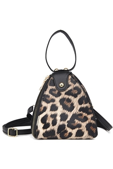 Animal Printed Triangle Bag HB1205 - Brown